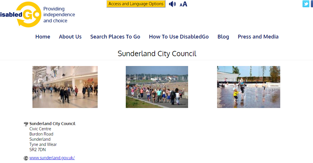 DisabledGo Launch – Accessibility guides for places in Sunderland